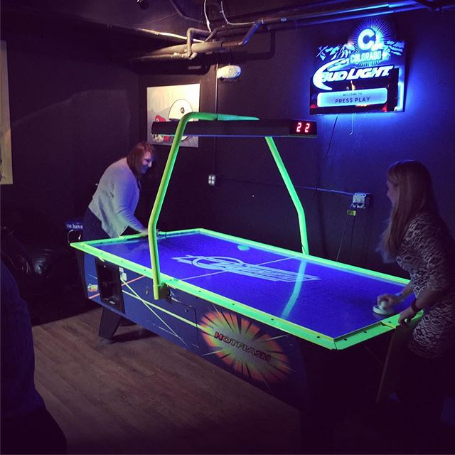 Valentine's Day air hockey