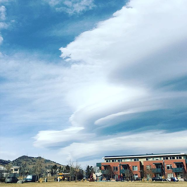 Lenticular clouds on today's afternoon walk