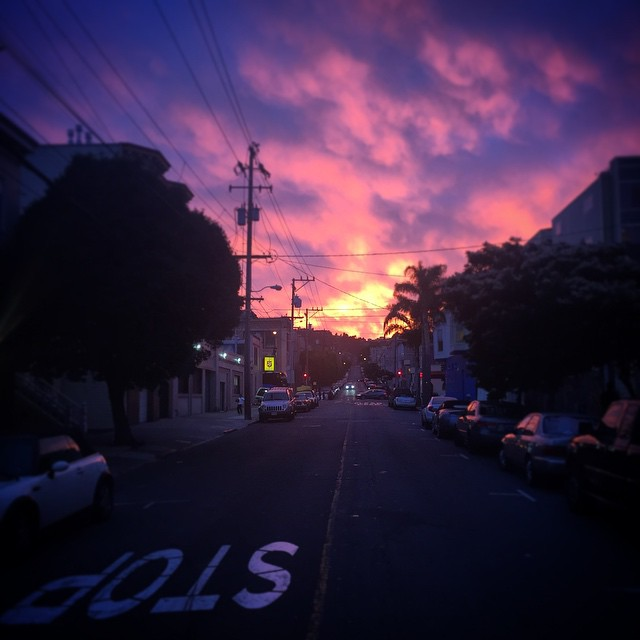 Sunset in the mission